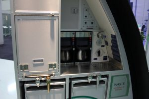 AIRCRAFT INTERIORS - AIM Aviation's A330 galley stowage unit displaying numerous features