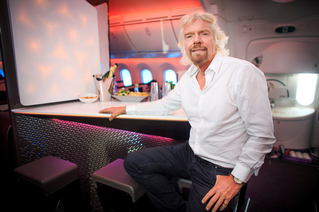 Richard Branson Virgin upper class bar AIM Altitude